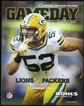2012 Clay Matthews Green Bay Packers vs Detroit Lions Game Day Program