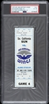 1975 Southern California Sun vs San Antonio Wings WFL Full Ticket (PSA/DNA Slabbed)