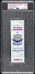 1975 Portland Thunder vs San Antonio Wings WFL Full Ticket (PSA/DNA Slabbed)