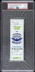 1975 Chicago Wind vs San Antonio Wings WFL Phantom Full Ticket (PSA/DNA Slabbed)