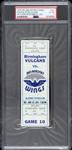 1975 Birmingham Vulcans vs San Antonio Wings Phantom WFL Full Ticket (PSA/DNA Slabbed)
