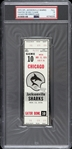 1974 Chicago Fire vs Jacksonville Sharks Phantom WFL Full Ticket (PSA/DNA Slabbed)