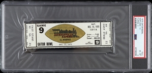 1975 Maryland vs Florida Gator Bowl Full Ticket (PSA/DNA Slabbed)