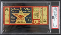 1952 Los Angeles Rams vs College All Stars at Soldier Field Full Ticket (PSA/DNA Slabbed)