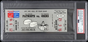 1973 New England Patriots vs San Francisco 49ers Hall of Fame Game Full Ticket (PSA/DNA Slabbed)