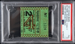 1957 Chicago Bears vs Baltimore Colts Full Ticket (PSA/DNA Slabbed)