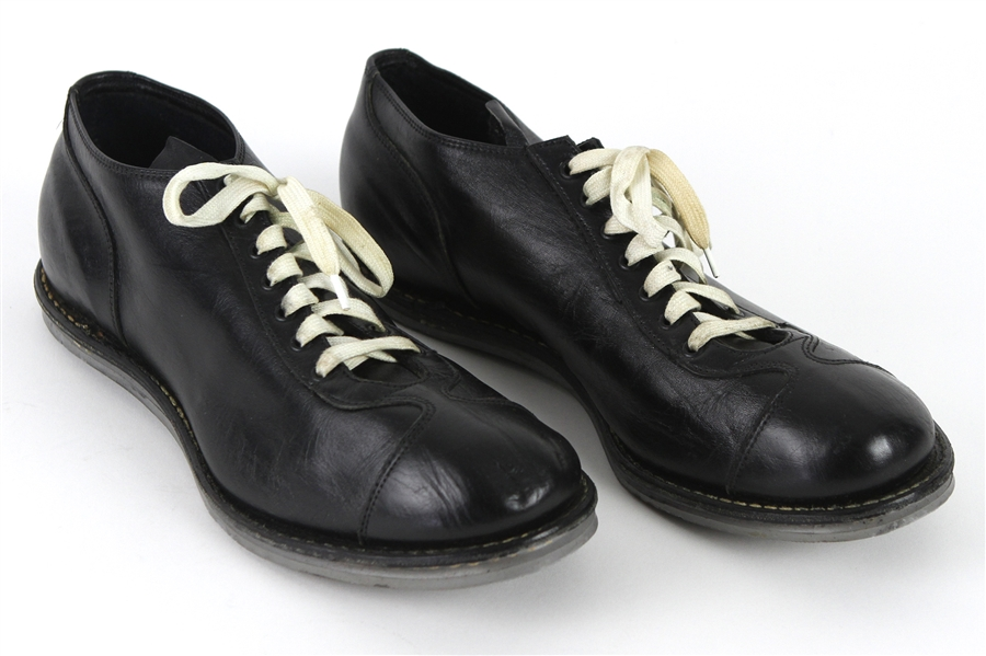 1950s Riddell Black Leather Athletic Shoes (MEARS LOA)
