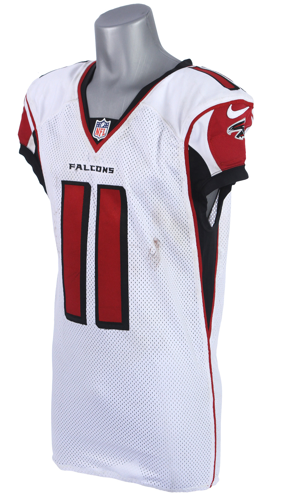 Lot Detail 2014 December 21 Julio Jones Atlanta Falcons Signed Game Worn Road Jersey Mears A10 Jsa Player Letter