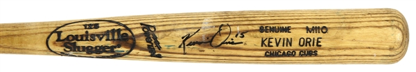 1997-98 Kevin Orie Chicago Cubs Signed Louisville Slugger Professional Model Game Used Bat (MEARS LOA/JSA)