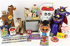 2000s Toy Story Toy Collection - Lot of 35+ w/ Action Figures, Plush Toys, Markers, Rulers, Woody Harmonica & More