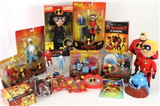 2004 Incredibles Toy Collection - Lot of 70+ w/ MIB Action Figures, MOC Action Figures, Happy Meal Toys, Valentines, Puzzle, Poster & More