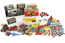 1920s-80s Toy Car & Vehicle Collection - Lot of 75+ w/ Pressed Steel, Molded Rubber, Matchbox, MIB Maisto Scale Models & More