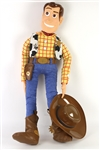 "1990s Frito Lay Store Display Toy Story Toy Collection - Lot of 2 w/ 50"" Woody Figure & Bullseye Horse Costume"
