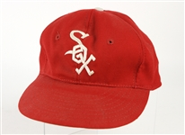 1975 Nelson Fox Chicago White Sox Stamped Old Timers Game Cap (MEARS LOA/)