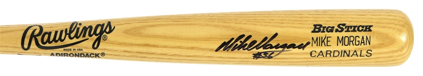 1995 Mike Morgan St. Louis Cardinals Signed Rawlings Adirondack Professional Model Bat (MEARS LOA/JSA)