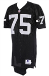 1992-93 Howie Long Los Angeles Raiders Signed Home Jersey (MEARS LOA)