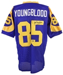 1971-1984 Jack Youngblood Los Angeles Rams Autographed Jersey (Tristar)