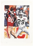 "1994 Jerry Rice San Francisco 49ers Signed 18"" x 24"" Lithograph (JSA) 215/450"