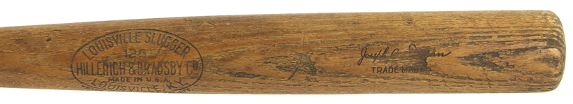 1921-31 Joe Dugan H&B Louisville Slugger Professional Model Game Used Bat (MEARS A6)