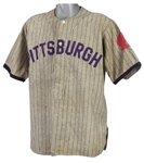 1910s-20s Game Worn Pittsburgh Baseball Jersey (MEARS LOA)