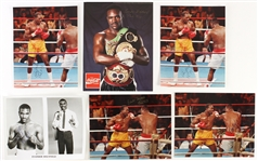 1980s Evander Holyfield Autographed 8x10 Photo Lot (JSA)