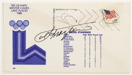 1980 Signed Joe Frazier Lake Placid FDC (JSA)