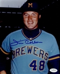 1972-76 Jim Colborn Milwaukee Brewers Autographed 8x10 Color Photo *JSA*