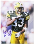"1993-1997 Doug Evans Green Bay Packers Signed 11""x 14"" Photo (JSA)"