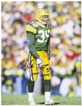 "1993-1998 Mike Prior Green Bay Packers Signed 11""x 14"" Photo (JSA)"