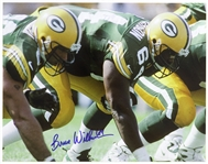 "1996-1997 Bruce Wilkerson Green Bay Packers Signed 11""x 14"" Photo (JSA)"