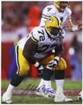 "1993-2002 Earl Dotson Green Bay Packers Signed 11""x 14"" Photo (JSA)"