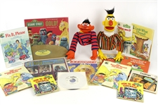 1970s Sesame Street Collection of Toys & Books (Lot of 16)