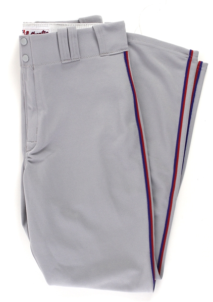 2011 Barry Larkin Washington Nationals Road Uniform Pants (MEARS LOA)