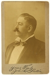 "1900s John L. Sullivan World Heavyweight Champion Facsimile Signed 4.25"" x 6.5"" Cabinet Card"