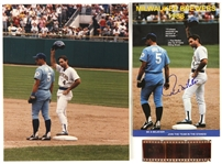 1988 Milwaukee Brewers Paul Molitor George Brett Negative and Autograph Program