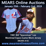 1981 Bill Lee Montreal Expos Game Worn Road Jersey (MEARS A10)