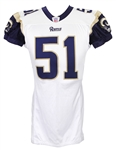 2007 Will Witherspoon St. Louis Rams Game Worn Road Jersey (MEARS LOA)