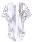 2013 (July 13) Derek Jeter New York Yankees Alternate Jersey (MEARS LOA)