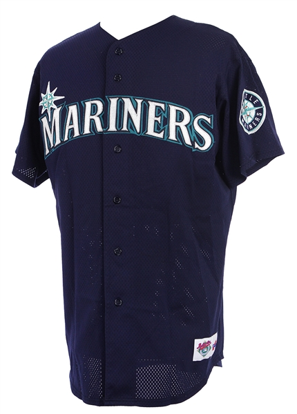 1998-99 Ken Griffey Jr. Seattle Mariners Signed Game Worn Alternate Jersey (MEARS A10/*Full JSA Letter*/Player Letter)