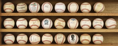 1980s-90s Signed Baseball Collection - Lot of 21 w/ Reggie Jackson, Pete Rose, Warren Spahn, Wade Boggs & More (JSA)