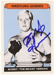 Bobby 'The Brain' Heenan Wrestling Legend Signed LE Trading Card (JSA)