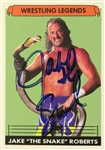 "Jake ""The Snake"" Roberts WWF Wrestling Legend Signed LE Trading Card (JSA)"