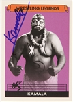 Kamala Wrestling Legend Signed LE Trading Card (JSA)