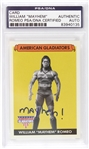 "2008 William ""Mayhem"" Romeo American Gladiators Signed LE Trading Card (PSA/DNA Slabbed)"