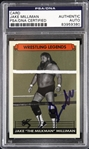 1981-1995 Jake Milliman AWA Professional Wrestler Signed Slabbed Card (PSA/DNA)