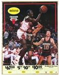 "1984-85 MINT Michael Jordan Chicago Bulls Rookie Season 17"" x 22"" Midas Promotional On Site Poster (Complete w/ Original Coupon)"