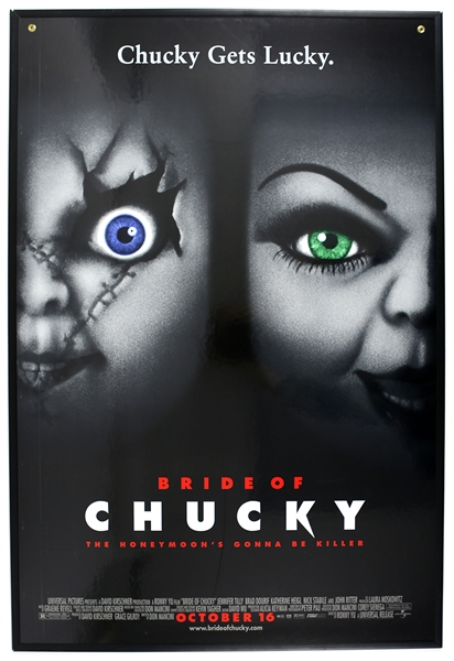 "1998 Bride of Chucky 27""x 40"" Two Sided Heavy Stock Film Poster"