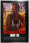 "1995 Die Hard with a Vengeance 27""x 40"" Film Poster"