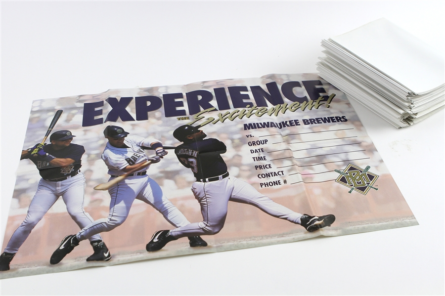 "1990s Milwaukee Brewers ""Experience the Excitement"" 17""x 24"" Posters (Lot of 83)"