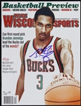 2009 Brandon Jennings Milwaukee Bucks Signed Inside Wisconsin Sports (JSA)